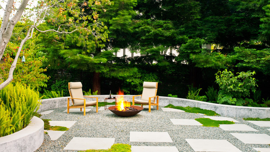Outdoor fire bowl masters the ambiance desired by all property owners.