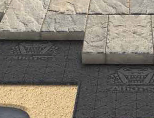 Gator Base under Techo-Bloc paving stone, all available at Creative.